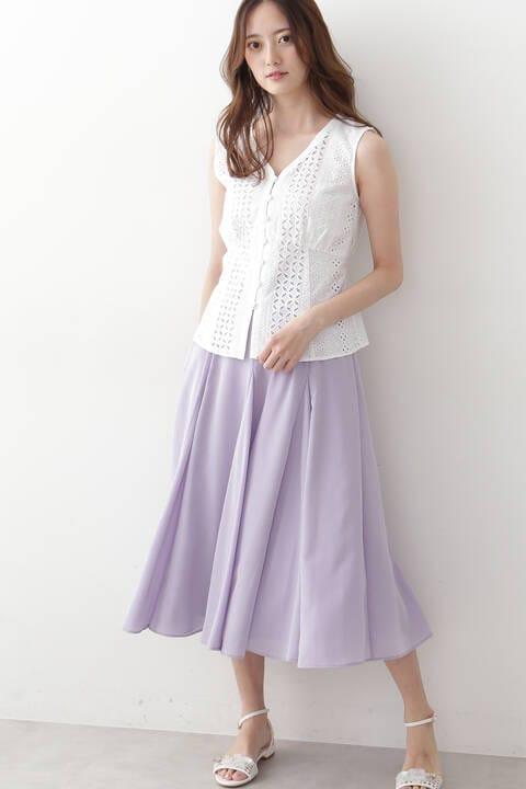 シアーサテンスカート