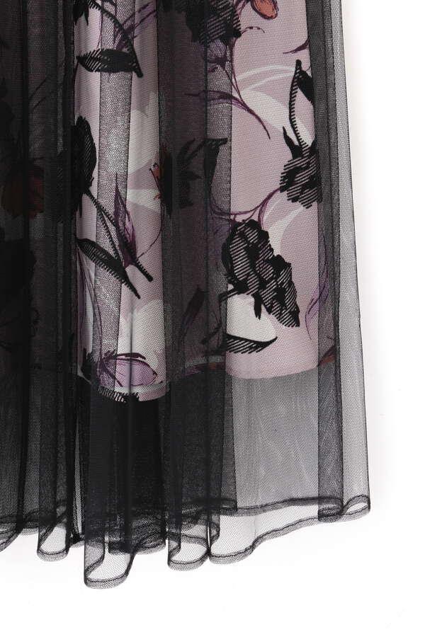 【田中 みな実さん着用 美人百花10月号掲載商品】フロッキーフラワーワンピース