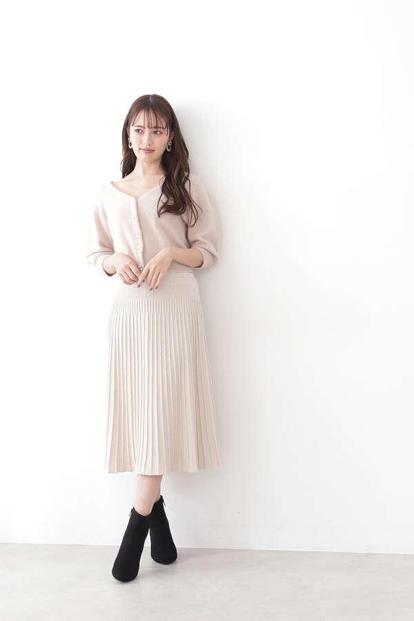 【田中 みな実さん着用 美人百花10月号掲載商品】シアーパフニットアップ