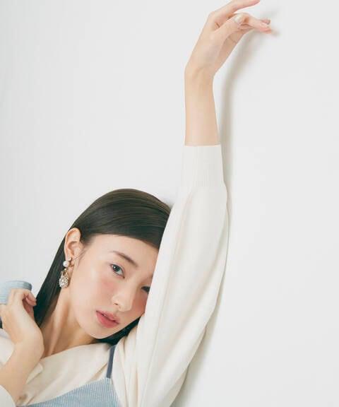 【道重さゆみさん着用 美人百花12月号掲載商品】ドロップフラワーイヤリング