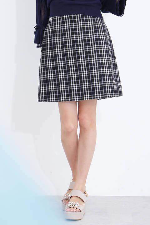 ソフトプレイドスカート