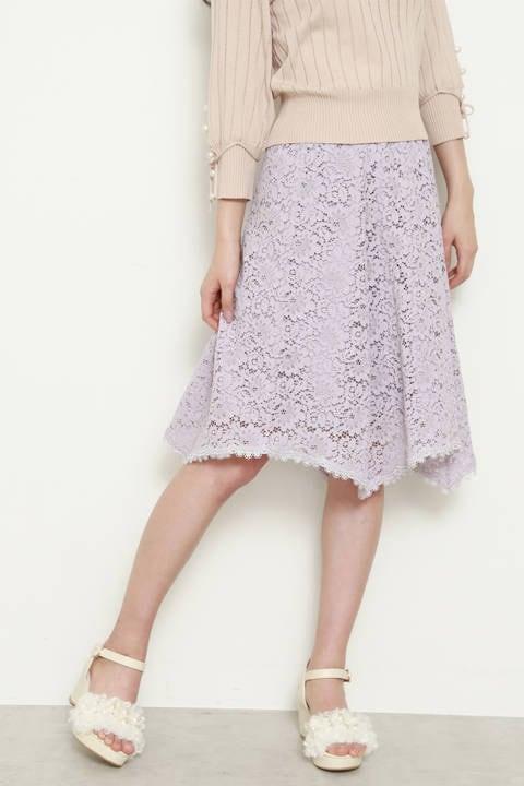 【Ray 5月号掲載】フローラルブロックレース スカート