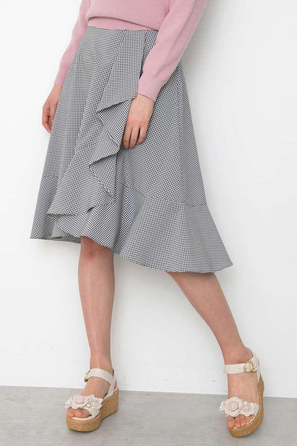 スプリングプレイドスカート
