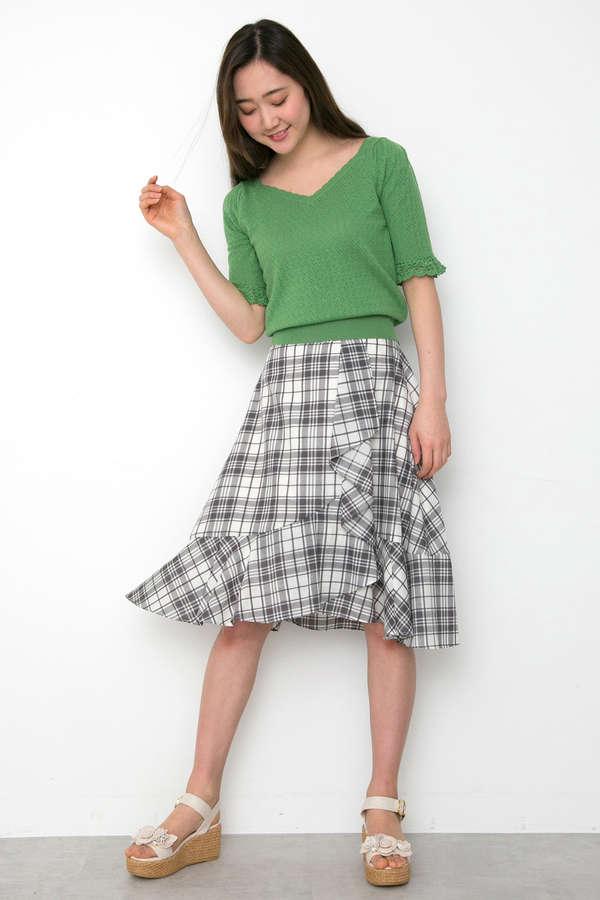 【Ray 5月号掲載】スプリングプレイドスカート
