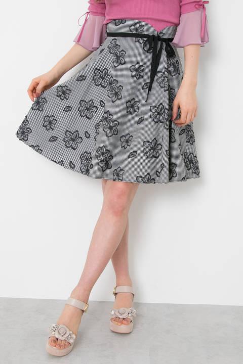 プレイドラインフローラル スカート