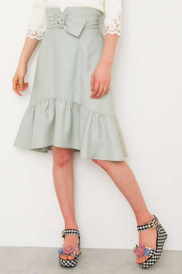 カラーマーメイドスカート