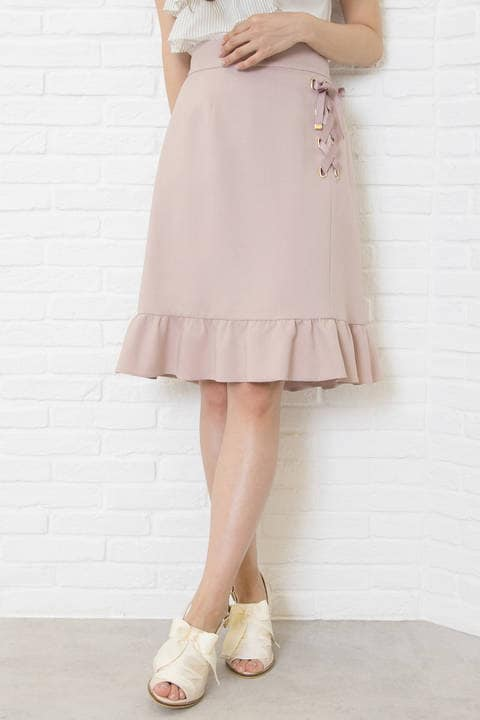 【先行予約_5月上旬-5月中旬お届け予定】サイドレースアップスカート