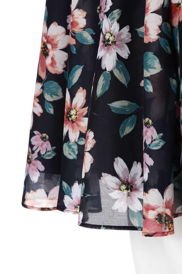 サマーフローラルスカート