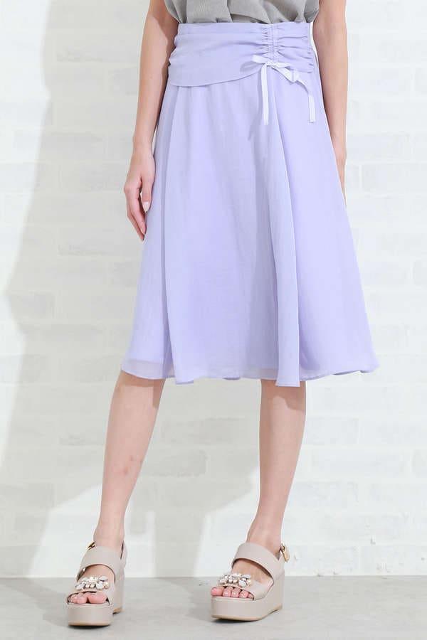 カラーミディスカート