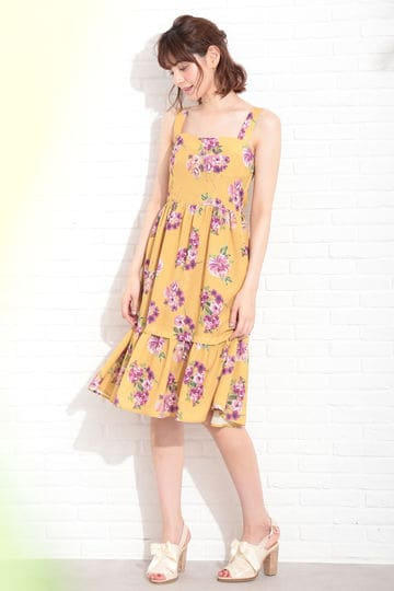 【CanCam ,Ray 5月刊登载】【KOBE COLLECTION 穿款】BLOOM TROPIC ONE-PIECE DRESS