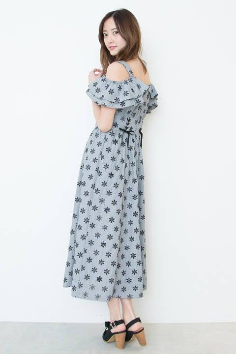 【Ray7月号 掲載】【神戸コレクション着用】カットワークラッフルワンピース