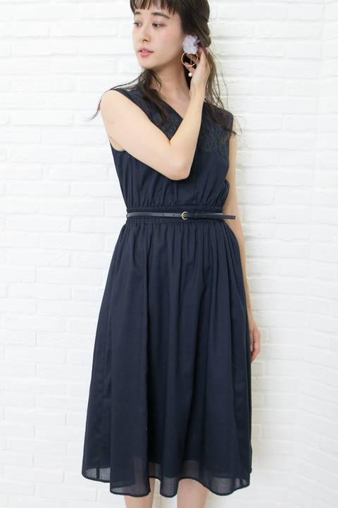 【先行予約_5月上旬-5月中旬お届け予定】レースパネルシャツドレス