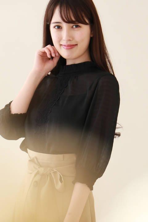 【Sweet8月号 掲載】レーシーシュリンクパフブラウス