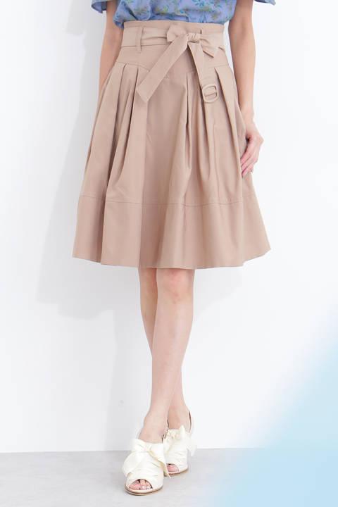 リボンミニフレアスカート