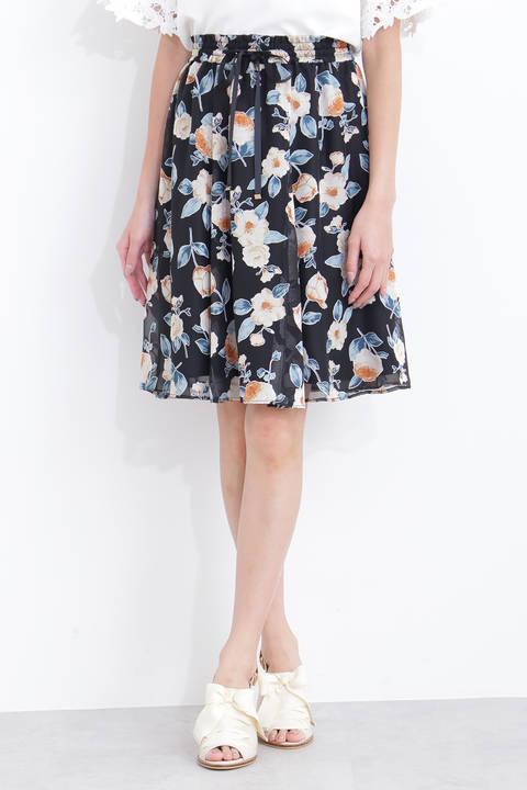 ディボアオータムフローラルスカート
