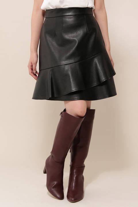 プレイフルレザースカート