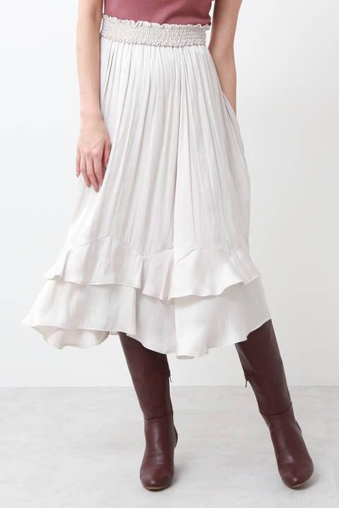 ラッフルビンテージサテンスカート