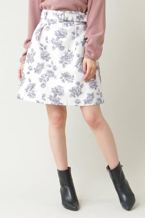 【sweet11月号掲載】ウィンターローズジャガードスカート