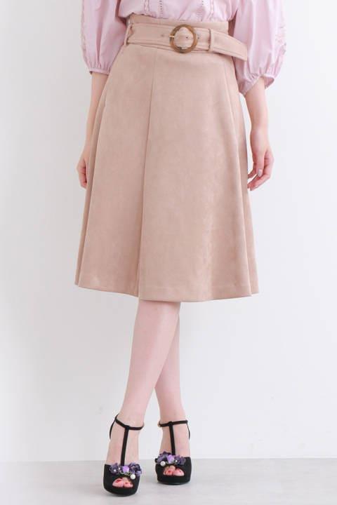 ベルテッドスウェードスカート