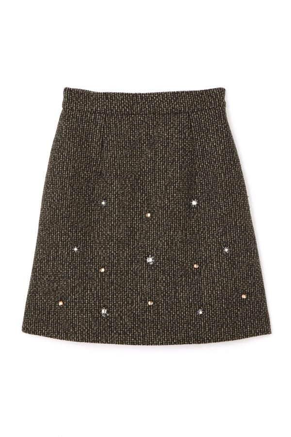 【sweet11月号掲載】ファンシーツイードスカート