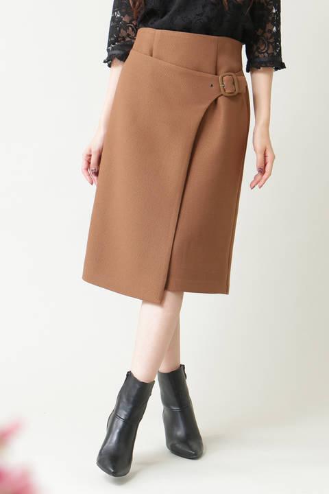 ラップベルトミディスカート
