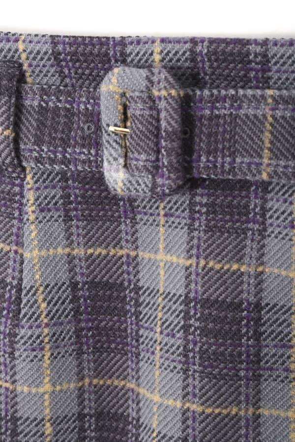 ループラインチェックタイトスカート