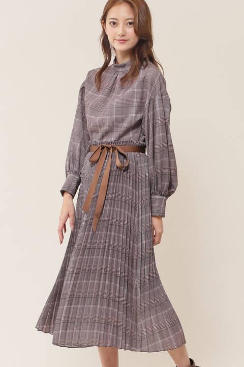 【sweet11月号掲載】アコプリーツミディワンピース