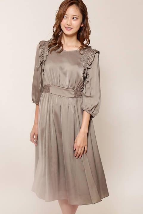 フリルストリングドレス