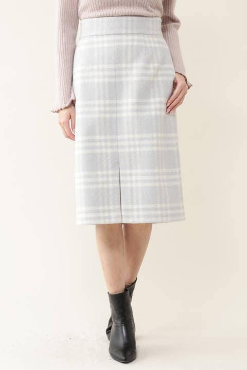 リゾートプレイドタイトスカート