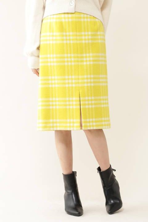 【美人百花1月号掲載】リゾートプレイドタイトスカート