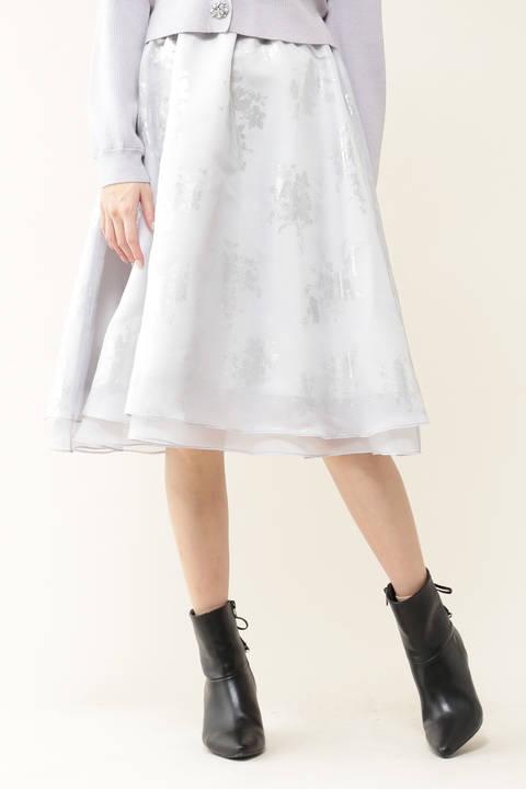 フォイルフローラルスカート