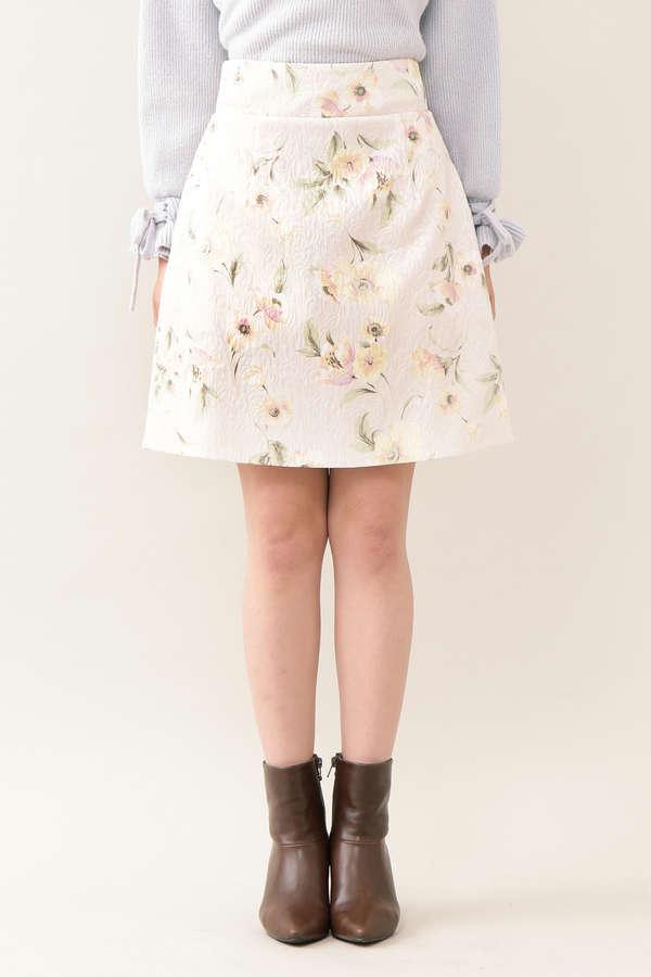ジャガードフローラルスカート