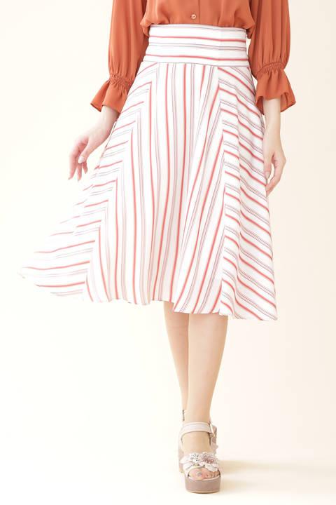 【美人百花3月号掲載】スプリングストライプスカート