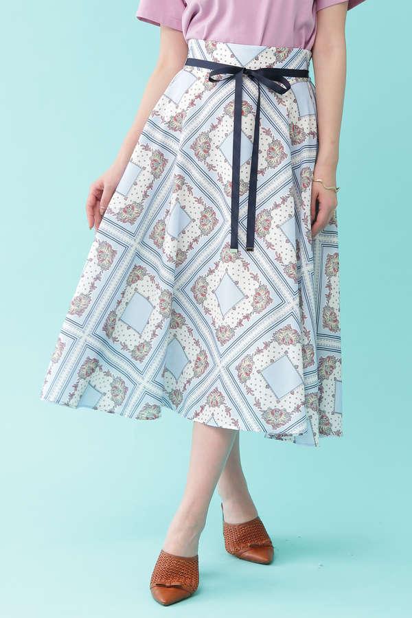 【美人百花 4月号掲載】クラシカルハンカチーフスカート