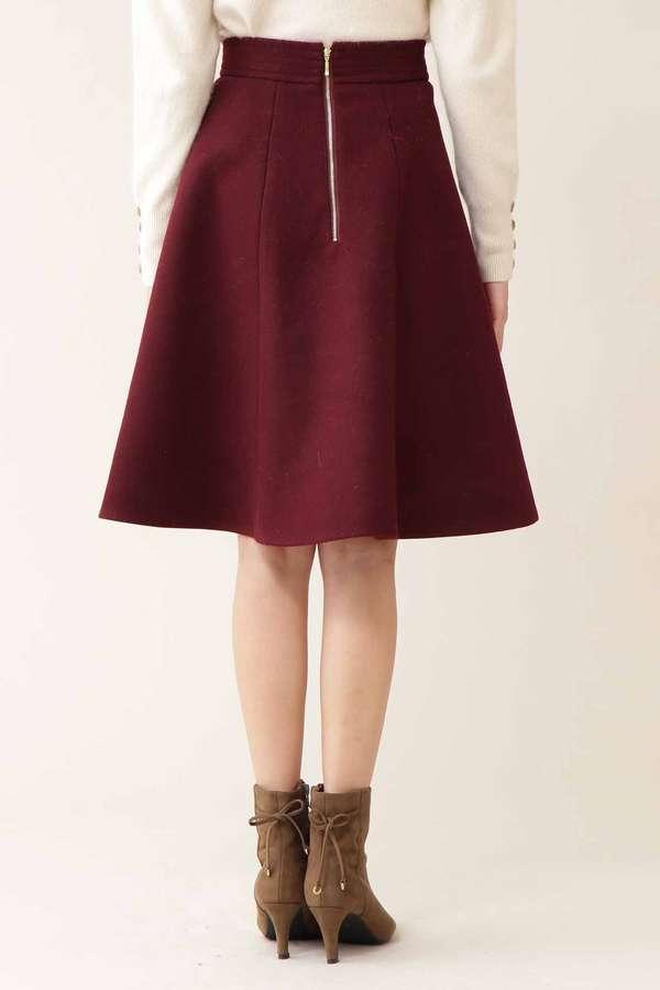 カラーフレアスカート