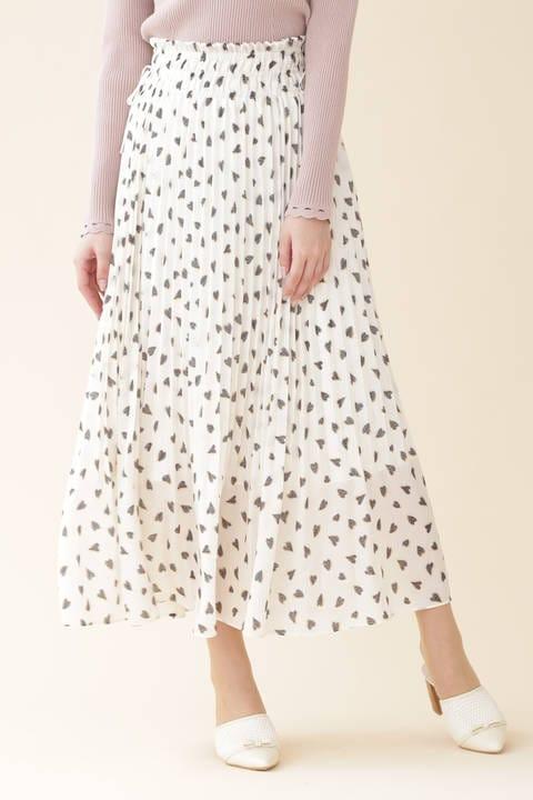 ハートプリーツスカート