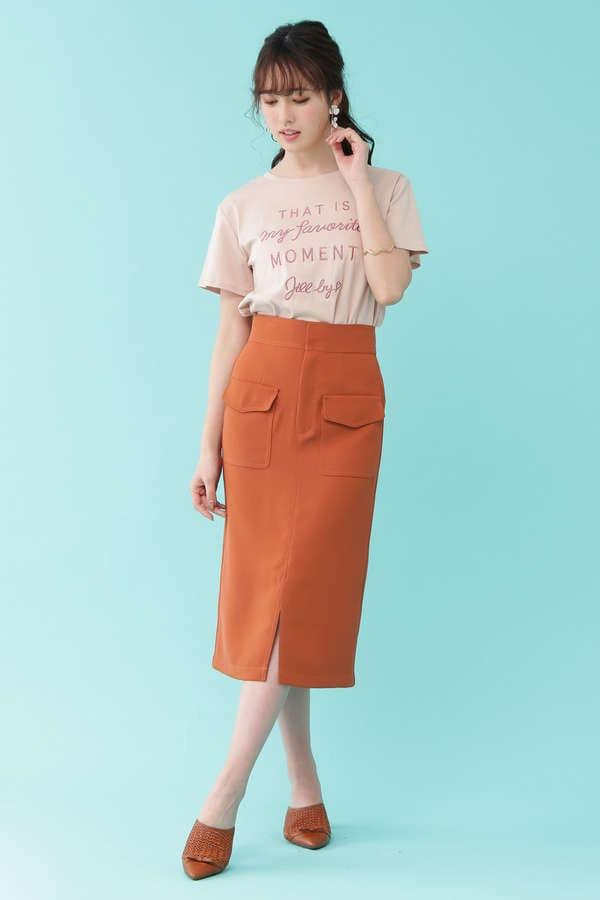 パッチポケットタイトスカート