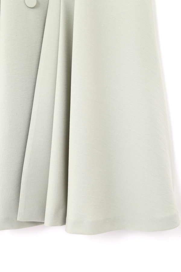 ボタンフレアスカート