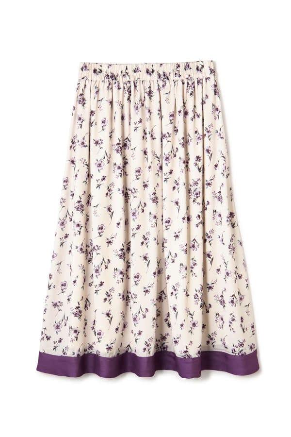 ヘムラインフローラルスカート