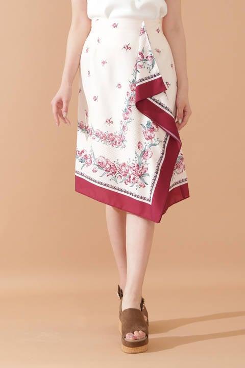 チーフヘムスカーフスカート