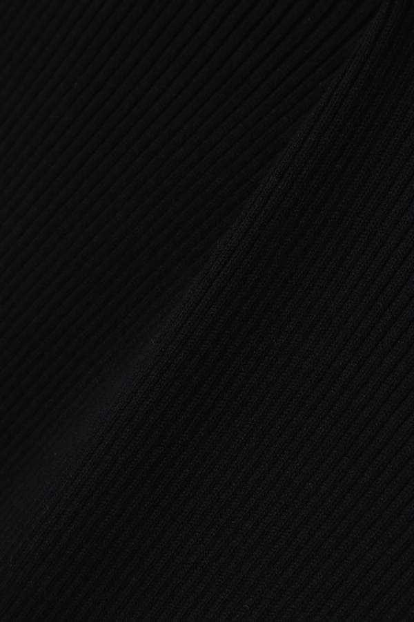 プリーツニットワンピース半袖
