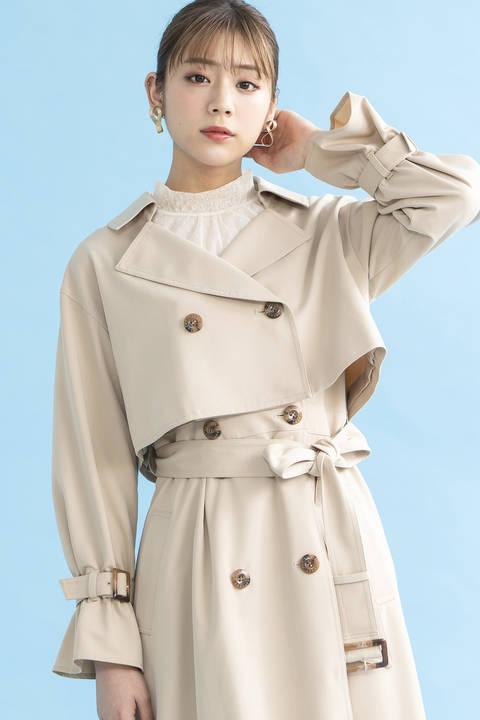 【美人百花3月号掲載】マルチウェイトレンチコート