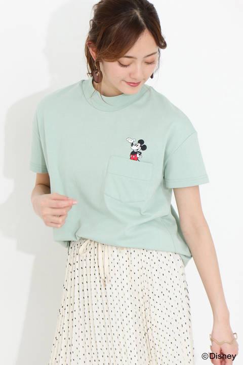 ポケットTシャツ(ミッキーマウス)