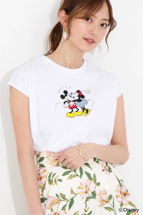 プリントタンクトップ(ミッキーマウス&ミニーマウス)