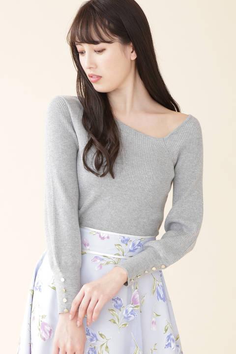 【美人百花3月号掲載】リブスプリングニット