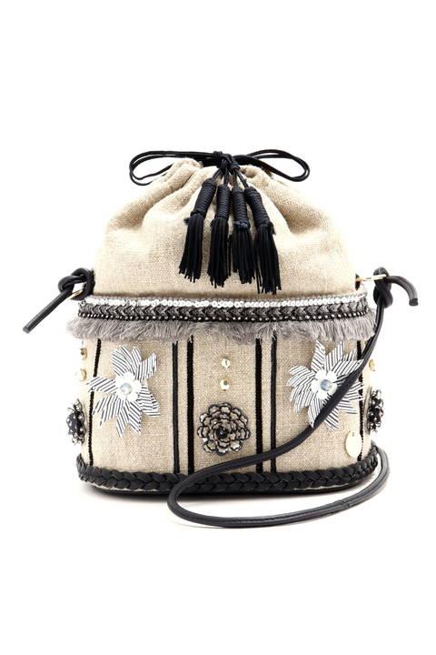 【CanCam 5月号掲載】【steady 4月号掲載】フラワードローストリング巾着バッグ