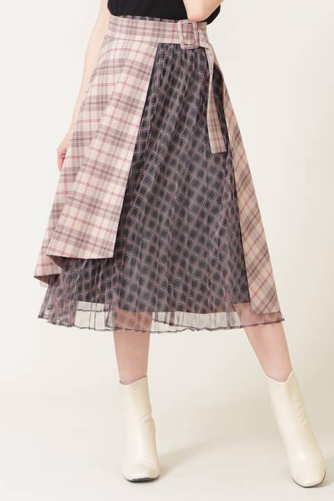【先行予約9月上旬-9月中旬入荷予定】プリーツラップセットスカート