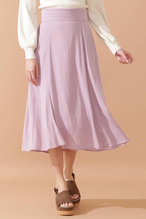 フローラルサテンジャガードスカート