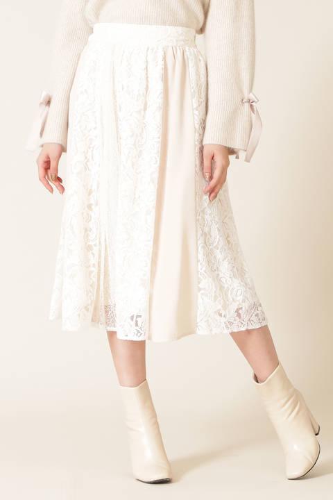 【先行予約9月下旬-10月上旬入荷予定】レースパネルスカート