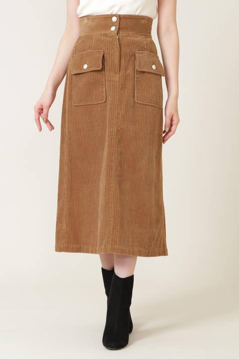 【先行予約9月上旬-9月中旬入荷予定】ミックスリブコーデュロイスカート